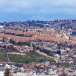 Panorama - Wall of Old City, Jerusalem — Stock Photo