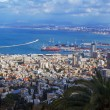 Panorama - Aerial View of Haifa, Israel - Stock Photo