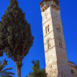 Mosque of Omar Minaret Vertical Panorama, Jerusalem — Stock Photo