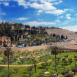 Panorama - Church of All Nations and Mount of Olives, Jerusalem — Stock Photo