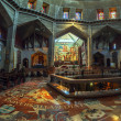 Panorama - Interior of Church of the Annunciation, Nazareth — Stock Photo