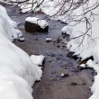 Winter River with Snow — Stock fotografie