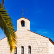 Stock Photo: Church of Multiplication Facade in Tabgha
