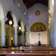 Interior of St. Joseph's Church in Nazareth — Stock Photo