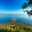 Landscape of Kinneret Lake - Galilee Sea — Stock Photo