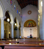 Interior of St. Joseph's Church in Nazareth — Foto Stock