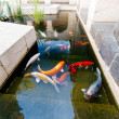 Stock Photo: Fishes of Koi Pond