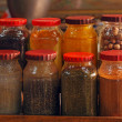 Oriental Spices in Cans — Stock Photo