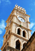 Khan al-Umdan Clock Tower, Acre — Stock Photo