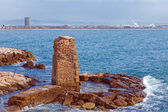 Remains of Ancient Harbor, Acre — Stock Photo
