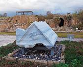Ruins of Antique Harbor, Caesarea Maritima — Stock Photo