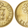 One Escudo Coin Isolated — Stock Photo