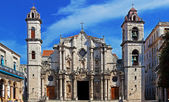 Panorama of Havana Cathedral Square — Stock Photo