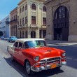 Vintage Red Taxi Car, Havana, Cuba — Stock Photo #37646099