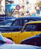 Vintage Taxi Cars, Havana, Cuba — Foto de Stock