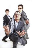 Crazy podnikatelé, tanec — Stock fotografie