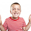 Portrait of happy cute little boy laughing — Stock Photo #13630495