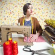 Vintage tailor dressmaker, old fashion style — Stock Photo #13759917