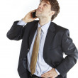Businessman speaking mobile phone — Stock Photo #13759987