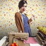 Vintage tailor dressmaker, old fashion style — Stock Photo #13764188