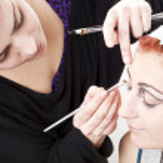Make up artist backstage — Stock Photo #13760495