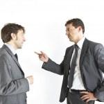 Two businessmen arguing — Stock Photo