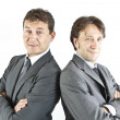 Stockfoto: Two happy smiling businessmen