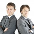 Two happy smiling businessmen — Stock Photo