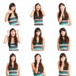 Collage of woman — Stock Photo #13762605