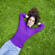 Young girl relaxing on the grass — Stock Photo #13763527