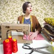 Vintage tailor dressmaker, old fashion style — Stock Photo #13764189