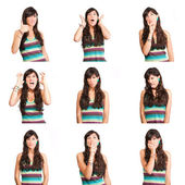 Collage of woman — Stock Photo