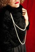 Fashion luxury model — Stock Photo