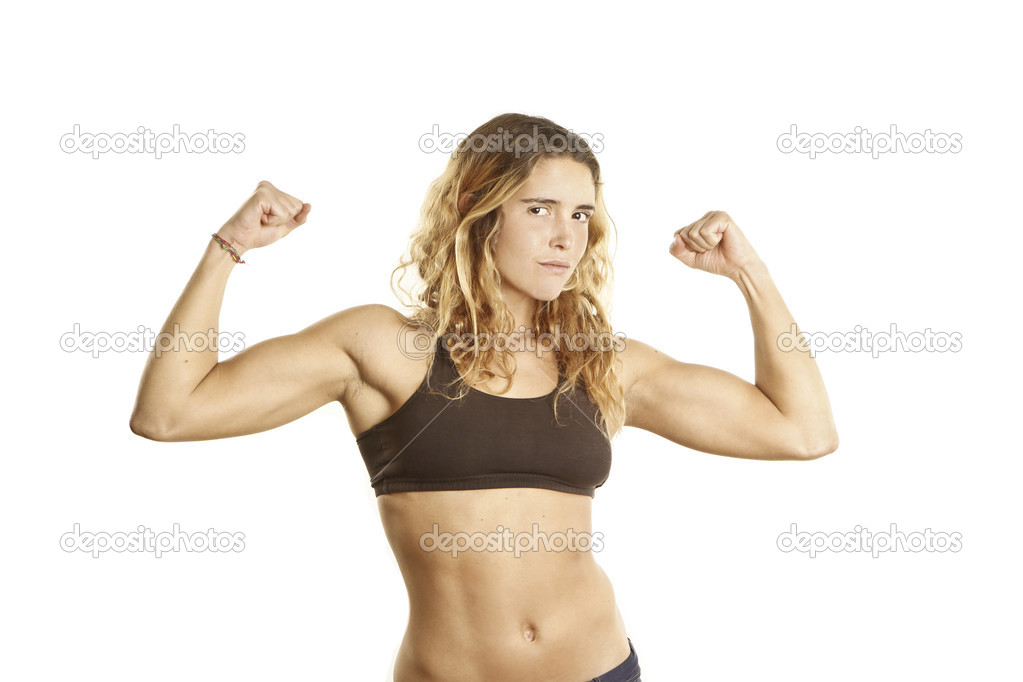Young girls showing muscles idea Completely