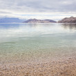 Quite cloudy beach in croatia, baska — Stock Photo