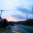 Road in the evening — Stock Photo
