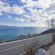 Coastal road in croatia — Stock Photo