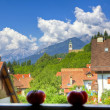 Mountain village in summer — Stock Photo #13999900