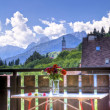 Stock Photo: Mountain village in summer view from balcony