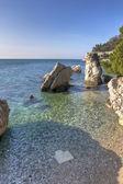 Mediterrean rocky beach — Foto Stock