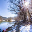 River in winter season — ストック写真