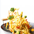Fried noodles asian style food - Photo