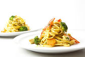 Fried noodles asian style food — Stock Photo