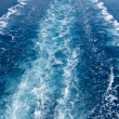 Wake in the ocean made by cruise ship - Stock fotografie