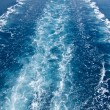 Wake in the ocean made by cruise ship - Stockfoto