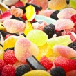 Mixed colorful sugar candy background — Stock Photo