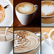 Stock Photo: Cappuccino composition