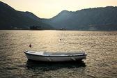 Fishing boat in kotor bay, montenegro — Stock Photo