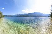 Lake Bohinj in summer Slovenia, Europe. Primary tourist destinat — Stock Photo