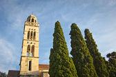Beautiful old church in hvar island, croatia — Stock Photo